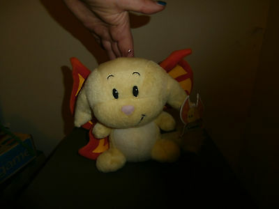 Neopets Plush Faerie Kacheek bean bag plushie 2003 limited edition snap! toys