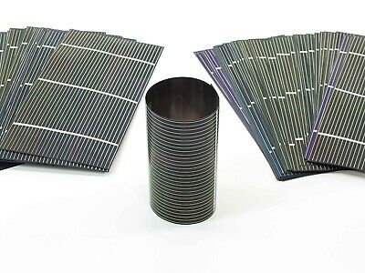 Solopower 1.25 Watts 190.5mm Thin Flexible CIGS Solar Cell Lot of 100 DIY
