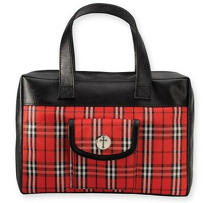 Plaid Red Bible Cover - Large