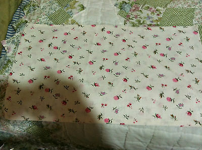 Cloth flour/feed sack (white with pink rose) Vintage STYLE