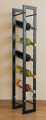 "Wrought Iron Wine rack ""Tangle"" FLOOR STAND DISPLAY BOTTLE HOLDER"