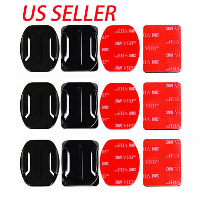 12Pcs Helmet Accessories Flat Curved Adhesive Mount For Gopro Hero 1 2 3 3+ 4