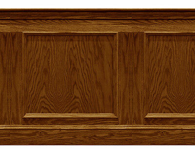 Dolls House Wallpaper Wainscot  Quality Matte card 1/12th or 1/24th Med Oak