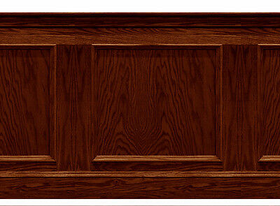 Dolls House Wainscot Quality panel 1/12th or 1/24th Mahogany