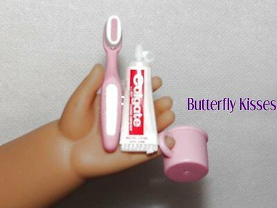 Toothbrush Cup Paste Dental Doll Clothes Made For 18 inch American Girl Doll P