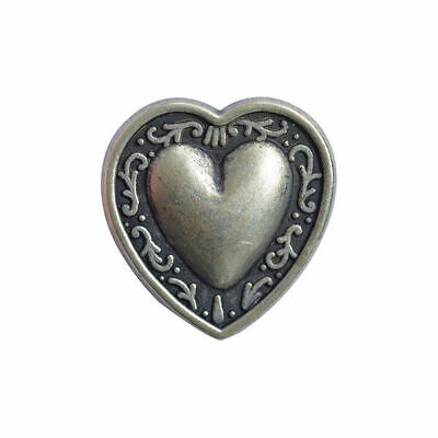 Antique Silver Metal Heart Buttons - Available in 3 sizes - 11.5mm, 18mm & 20mm