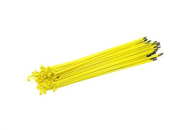 Mission Yellow Stainless Steel Spokes W/ Black Nipples--Choose Your Spoke Length