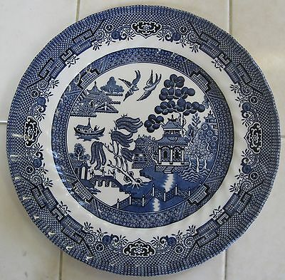 """Blue Willow Royal Wessex 10"""" Dinner Plate Vintage"""