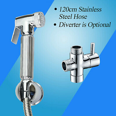 Solid Brass Bidet Hand Held Shower Head Toilet Hygeian Shattaf Diverter Set