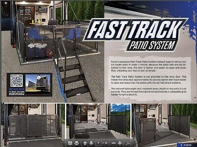 Fuzion 5th Wheel Toy Hauler Fast  Track Patio System -NO Reserve