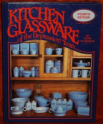 VINTAGE PRICE GUIDE BOOK 'KITCHEN GLASSWARE of the Depression Years' 1990
