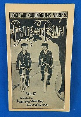 Faultless Starch Library Promo Booklet Bin and Bun Vol 17 Vintage 1890-1930s