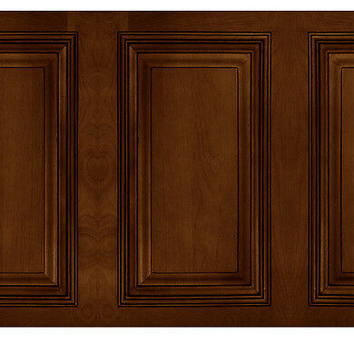 Dolls House Wall paper Wainscot  panel 1/12th or 1/24th WP24 Oak