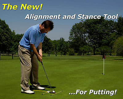 Fiberglass Golf Alignment & Stance Tool - For Putting & Chipping