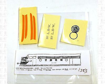 Enhorning S Decals Cotton Belt EMD Cab Diesel Locomotive NO DATA