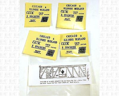 Enhorning S Decals Chicago and Illinois Midland Wood Boxcar Black NO DATA