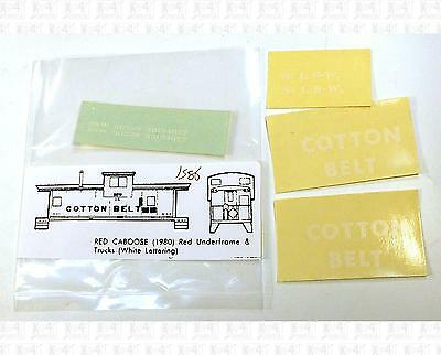 Enhorning S Decals Cotton Belt Caboose White Block Letter