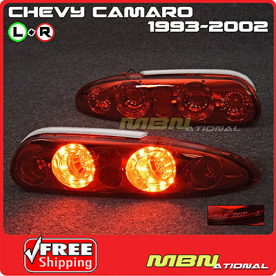 93-02 Chevy Camaro Rear Bumper Tail Stop Brake Light Lamp LED Red Conversion