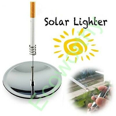 Solar Cigarettes Lighter Windproof Waterproof Cigarette Tobacco Camping Lighters