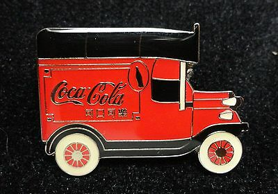 Coke Coca-Cola Antique Style RED with Asian Letters On Transportation Truck Pin