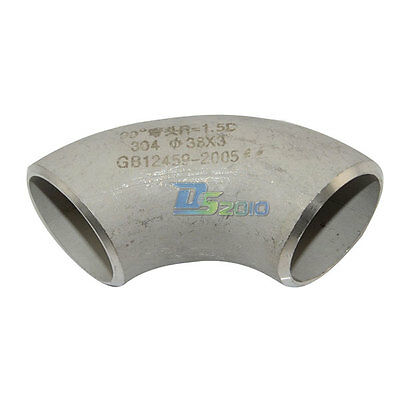38MM Short Radius Butt-Weld Elbow 90 Degree SS304 SUS304 Pipe Fitting INTER