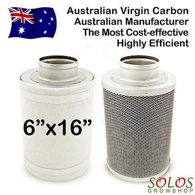 """6""""/150mm HYDROPONIC CARBON FILTER FOR INLINE EXHAUST FAN GROW TENT VENTILATION"""