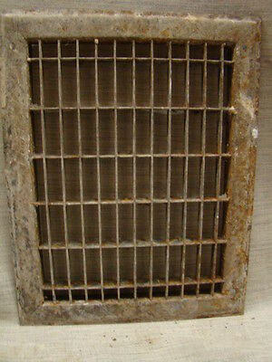 Vintage 1920S Cast Iron Heating Grate Cover Rectangular 14 X 11