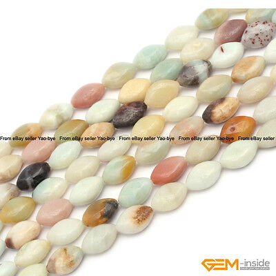 """Natural Colorful Amazonite Stone Marquise Beads For Jewelry Making Strand 15"""""""