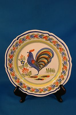 """Henriot Quimper Handpainted 10"""" Plate made in France"""