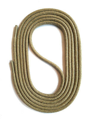 SHOELACES WAXED ROUND LACES - SAND - 3 Lengths - SNORS shoefriends