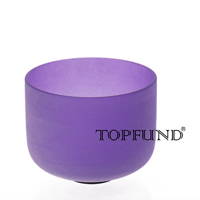 """Violet A# Pineal Chakra Frosted Quartz Crystal Singing Bowl 8""""+Mallet+O-ring"""