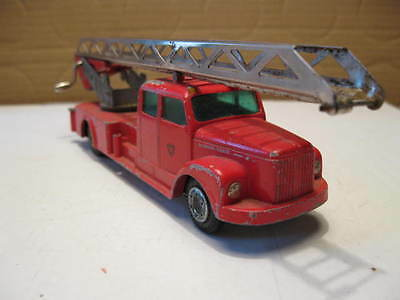 Tekno Denmark Scania-vabis 76. Fire truck with ladder .1960's.