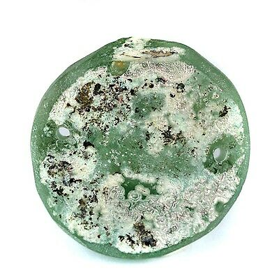 Solid Old World Recovered High Patina Glass Bottle Base Fragment 35mm