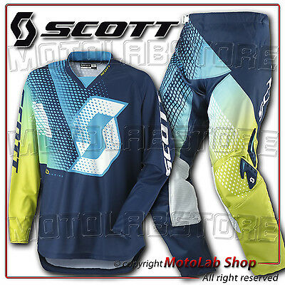 Kit 350 Dirt Scott Off-Road Motocross Enduro Vert Maillot Taille S Pantalon 46