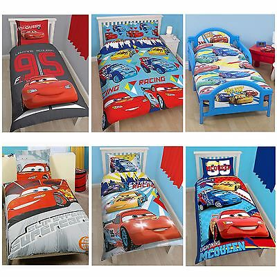 Disney Cars Duvet Covers - Single, Double & Junior Bedding - Lightning Mcqueen