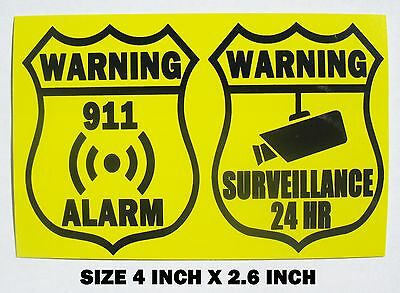 Unique SECURITY ALARM & VIDEO SURVEILLANCE Warning Sign Sticker Home & Office
