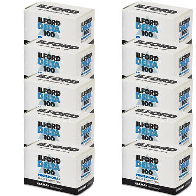 10 Rolls Ilford Delta 100 Pro Black & White 35mm Print Film 36 Exposure, 1780624