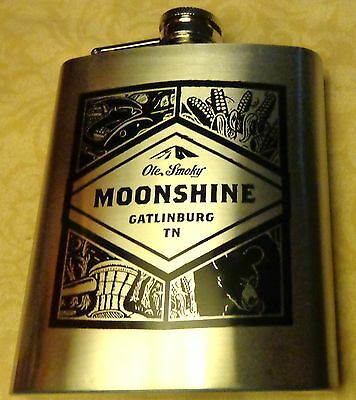 Ole Smoky Moonshine - Stainless Steel Flask - 7 Ounce...NEW