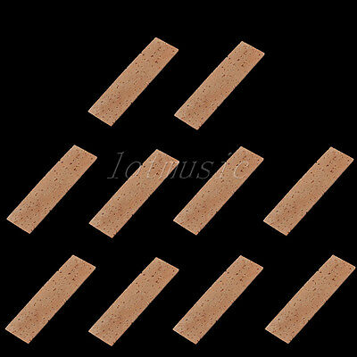 10PCS Bb Clarinet Joint Cork Clarinet Neck Cork Sheet 26mm*91mm*2mm Natural
