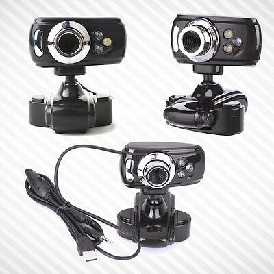 Webcam Hd 32 Megapixel 3 Led Microfono Usb 2.0 Web Cam Camera Skype Omegle Pc