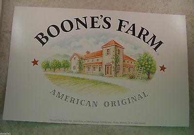 "Boone's Farm / Ecco Domani 14"" x 9 "" double sided poster - 2004 - New"