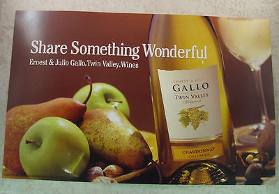 "Gallo / Turning Leaf 14"" x 9 "" double sided poster - 2004 - New"