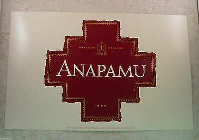 "Anapamu / Accents Cellars 14"" x 9 "" double sided poster - 2004 - New"