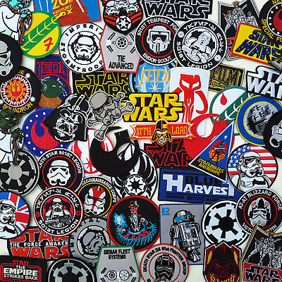 STAR WARS Ultimate PATCH COLLECTION - 40+ Styles, Under £2, UK Fast Free Post!