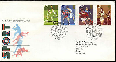 GB FDC 1980 Sport, Wembley Boxing Cardiff H/S Cover #C15283