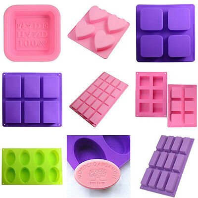 Silicone Soap Mould Ice Cube Candy Chocolate Cake Jelly Craft Mold Handmade DIY
