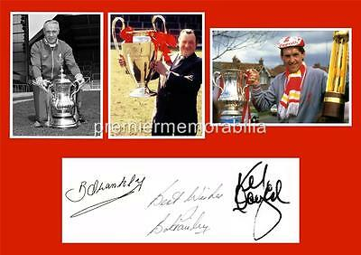 Liverpool Fc Legends Bill Shankly Bob Paisley Kenny Dalglish