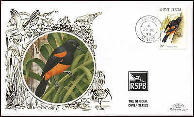 St. Lucia 1998, 70c Life, Birds Silk Cover #C14142
