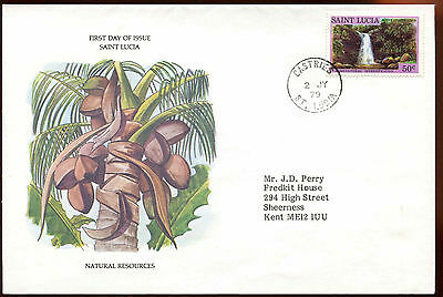 St. Lucia 1979 Natural Resources FDC First Day Cover #C14137
