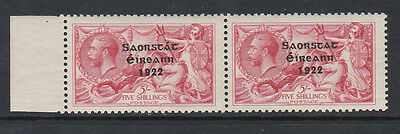 IRELAND 1922-23 5/- WITH 'NO ACCENT' SG 65a MNH.